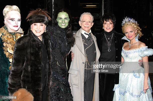 Carole Shelley as 'Mrs Morrible' Cindy Adams Idina Menzel as 'Elpheba The Wicked Witch' Joel Grey as 'The Wizard' Liza Minnelli and Kristin Chenoweth...