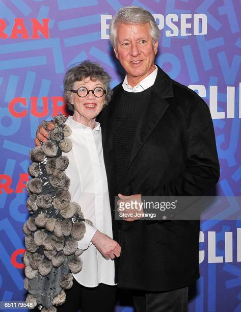 Carole Shorenstein Hays and Dr Jeffrey P Hays attend the celebration of Women's History Month on it's Opening Night of Eclipsed at the Curran Theater...
