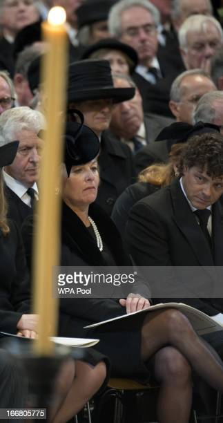 Carole Thatcher attends the funeral of Baroness Margaret Thatcher at St Paul's Cathedral on April 17 2013 in London England Dignitaries from around...