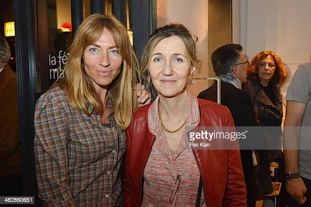 Carole Weiss and Sylvie Bourgeois Hare attend the 'J'aime Ton Mari' Sylvie Bourgeois Harel Book Reading Cocktail at La Fee Maraboutee Yvonne Le Tac...