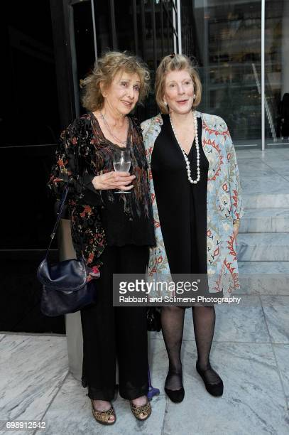 Carolee Schneemann and Agnes Gund attends the 2017 MoMA PS1 benefit gala at The Museum of Modern Art on June 20 2017 in New York City