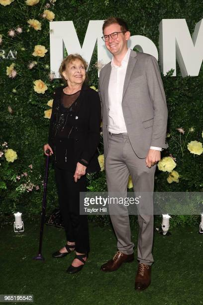 Carolee Schneemann and Kenneth White attend the 2018 Party in the Garden at Museum of Modern Art on May 31 2018 in New York City