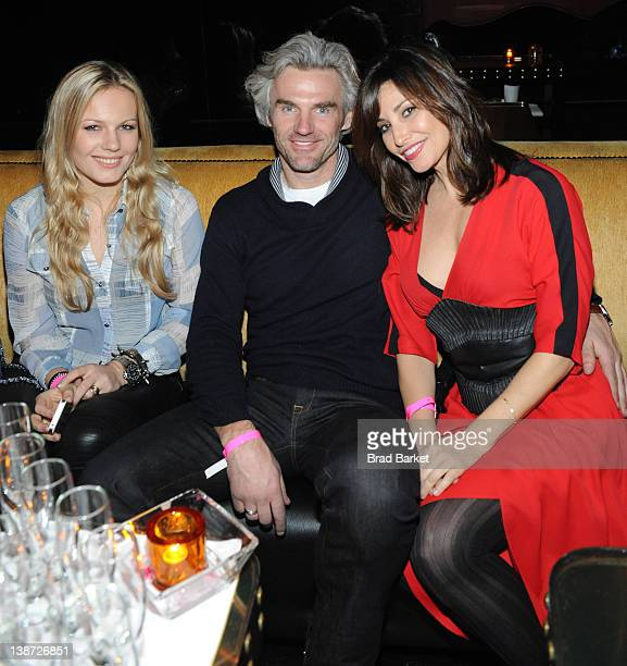 Carolin Dekeyser, Bobby Dekeyser and Gina Gershon attend the Charlotte Ronson Fall 2012 After Party at 1 Oak on February 10, 2012 in New York City.