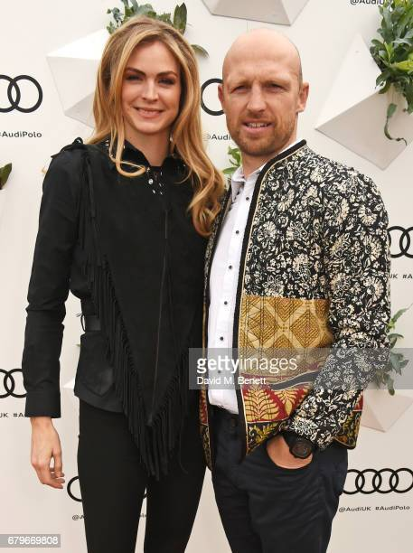 Carolin Hauskeller and Matt Dawson attend the Audi Polo Challenge at Coworth Park on May 6 2017 in Ascot United Kingdom