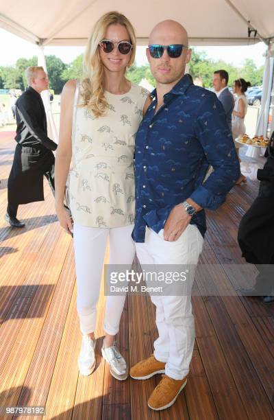 Carolin Hauskeller and Matt Dawson attend the Audi Polo Challenge at Coworth Park Polo Club on June 30 2018 in Ascot England