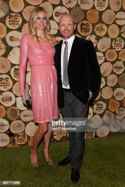 Carolin Hauskeller and Matt Dawson attend the Horan And Rose Charity Event held at The Grove on June 23 2018 in Watford England