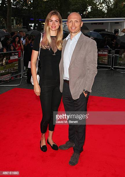 Carolin Hauskeller and Matt Dawson attend the World Premiere of Building Jerusalem at the Empire Leicester Square on September 1 2015 in London...