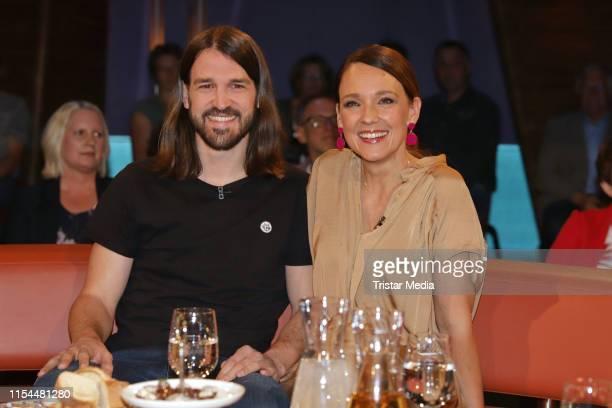 Carolin Kebekus and David Kebekus during the NDR Talk Show on June 7 2019 in Hamburg Germany