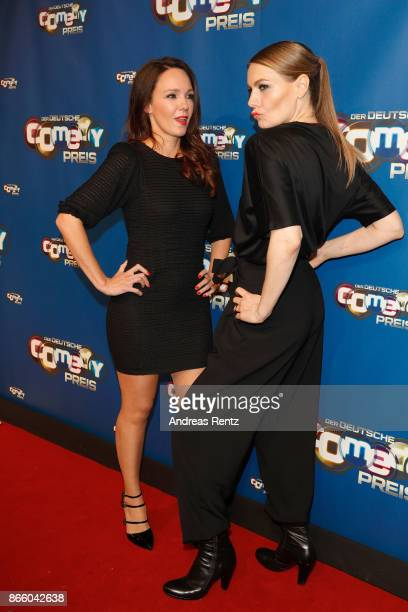 Carolin Kebekus and Martina Hill arrive for the 21st Annual German Comedy Awards on October 24 2017 in Cologne Germany
