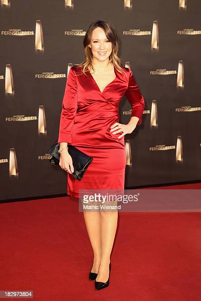 Carolin Kebekus arrives at the red carpet of the 'Deutscher Fernsehpreis 2013' at Coloneum on October 2 2013 in Cologne Germany