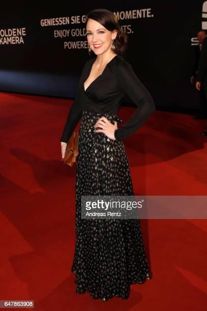 Carolin Kebekus arrives for the Goldene Kamera on March 4 2017 in Hamburg Germany