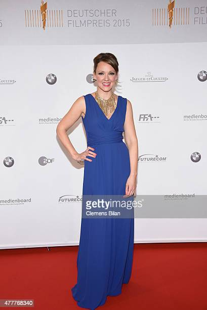 Carolin Kebekus is spotted backstage at the German Film Award 2015 Lola winners board at Messe Berlin on June 19 2015 in Berlin Germany