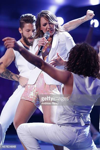 Carolin Kebekus performs on stage during the 18th Annual German Comedy Awards at Coloneum on October 21 2014 in Cologne Germany The show will be...