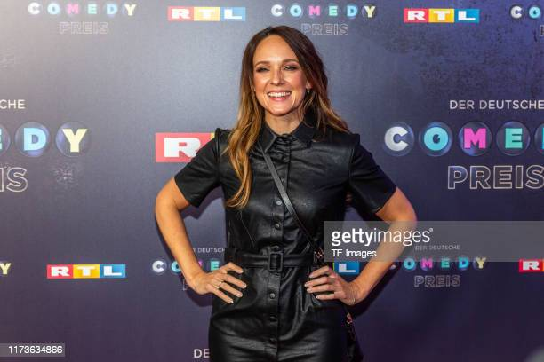 Carolin Kebekus pose for the 23rd annual German Comedy Awards at Studio in Koeln Muehlheim on October 2 2019 in Cologne Germany