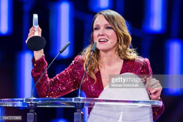 Carolin Kebekus winner of Best TV Solo at the 22nd Annual German Comedy Awards at Studio in Koeln Muehlheim on October 7 2018 in Cologne Germany