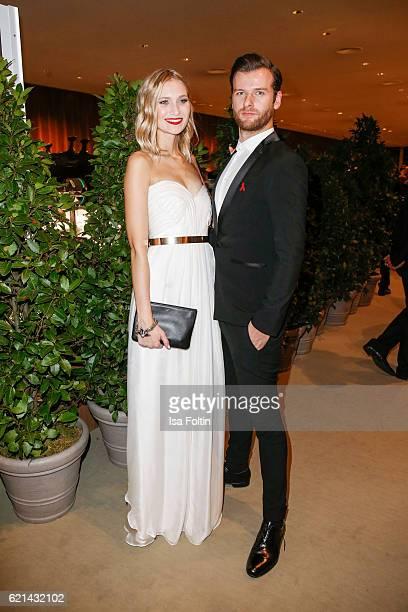 Carolin Niemczyk and Daniel Grunenberg arrive at the 23rd Opera Gala at Deutsche Oper Berlin on November 5 2016 in Berlin Germany