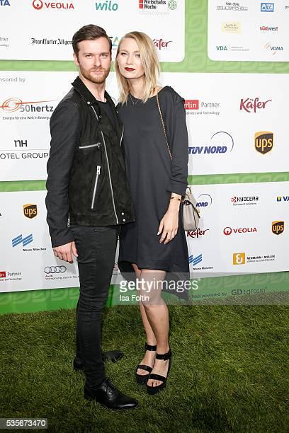 Carolin Niemczyk and Daniel Grunenberg of the band Glasperlenspiel attend the Green Tec Award at ICM Munich on May 29 2016 in Munich Germany