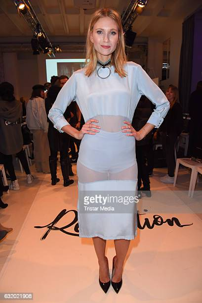 Carolin Niemczyk attends the Marcel Ostertag show during the MercedesBenz Fashion Week Berlin A/W 2017 at Delight Rental Studios on January 18 2017...
