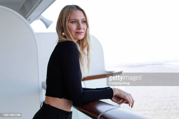 Carolin Niemczyk during the launch ceremony of the cruise ship Mein Schiff 2 on January 29 2019 in Bremerhaven Germany