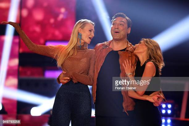 Carolin Niemczyk Mustafa Guendogdu 'Mousse T' and Ella Endlich during the second event show of the tv competition 'Deutschland sucht den Superstar'...
