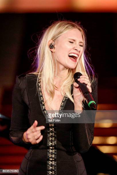 Carolin Niemczyk performs during the Minx Fashion Night in favour of 'Sauti Kuu' of Auma Obama at Wuerzburger Residenz on September 23 2017 in...