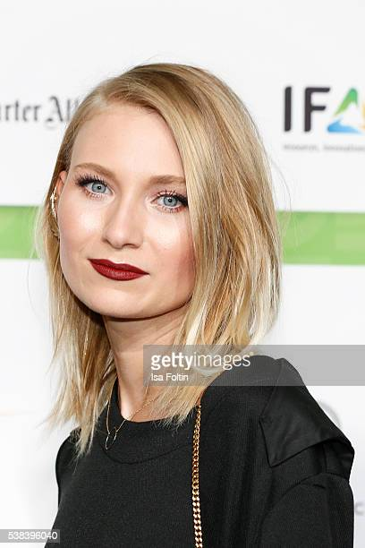 Carolin Niemczyk singer of the band Glasperlenspiel attends the Green Tec Award at ICM Munich on May 29 2016 in Munich Germany