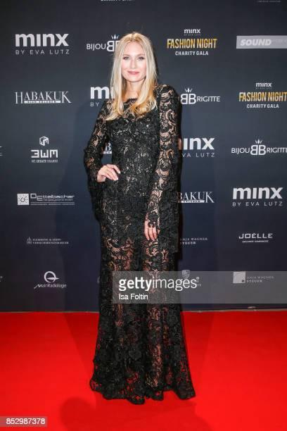 Carolin Niemczyk singer of the duo Glasperlenspiel during the Minx Fashion Night in favour of 'Sauti Kuu' of Auma Obama at Wuerzburger Residenz on...