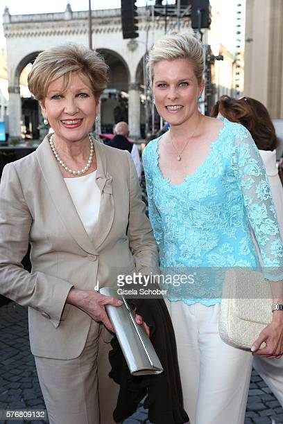Carolin Reiber and her daughter in law Cathrin Maier during the Mercedes-Benz reception at 'Klassik am Odeonsplatz' 2016 on July 17, 2016 in Munich,...
