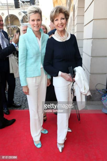 Carolin Reiber and her daughter in law Dr Cathrin Maier at the MercedesBenz reception at 'Klassik am Odeonsplatz' on July 15 2017 in Munich Germany