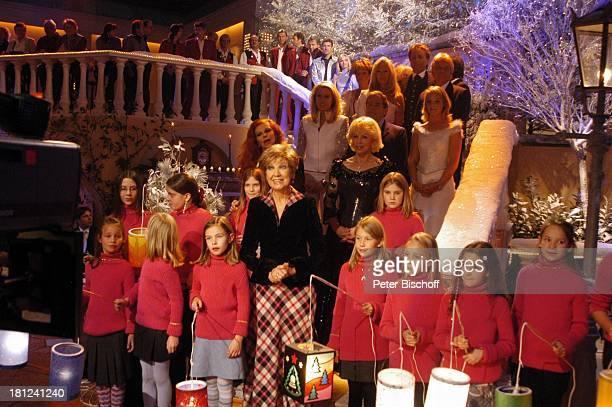 'Die Engelsstimmen' Milva Bianca Jane Jersey Eberhard Hertel Julia Jersey ZDFShow 'Winterwunderland' 'Bavaria Studios'/München Benefizgala 'Brot für...