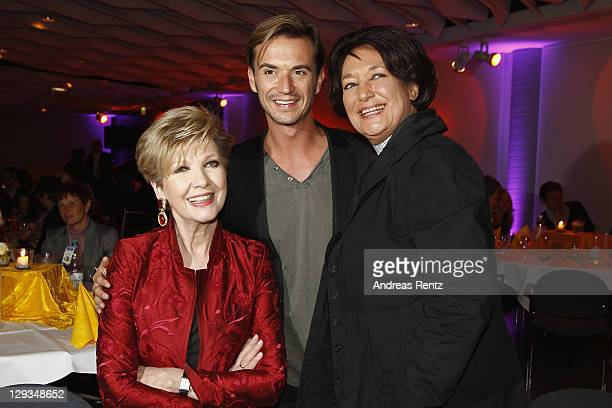 Carolin Reiber Florian Silbereisen and Edda Moser attend the after show party to the 'Das Herbstfest der Abenteuer' music show on October 15 2011 in...