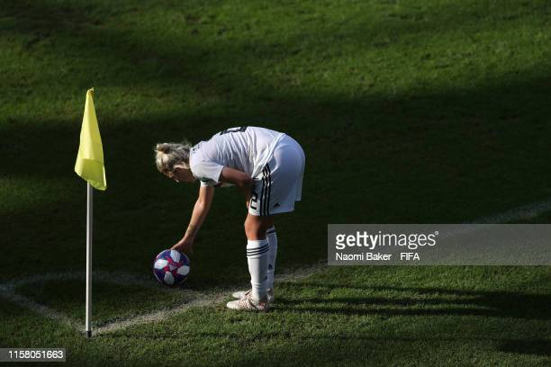 Carolin Simon of Germany places the ball in the corner preparing for a corner kick during the 2019 FIFA Women's World Cup France Round Of 16 match...