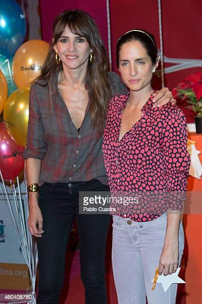 Carolina Adriana Herrera and Goya Toledo attend Aladina Foundation charity event at 'COAM' on December 13 2014 in Madrid Spain