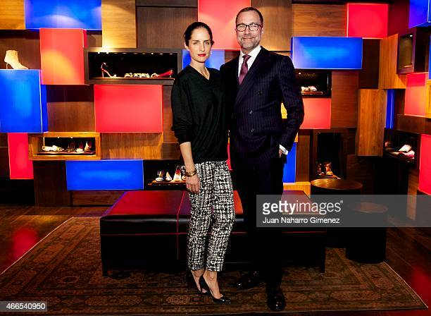 Carolina Adriana Herrera and US embassador to Spain James Costos attend Sould Food Nights dinner at Carolina Herrera store on March 16, 2015 in...
