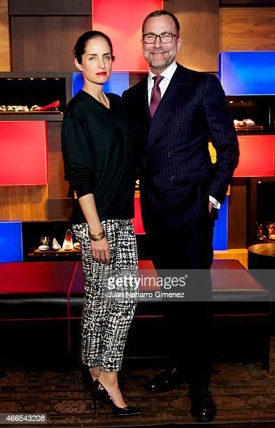 Carolina Adriana Herrera and US embassador to Spain James Costos attend Sould Food Nights at Carolina Herrera store on March 16, 2015 in Madrid,...