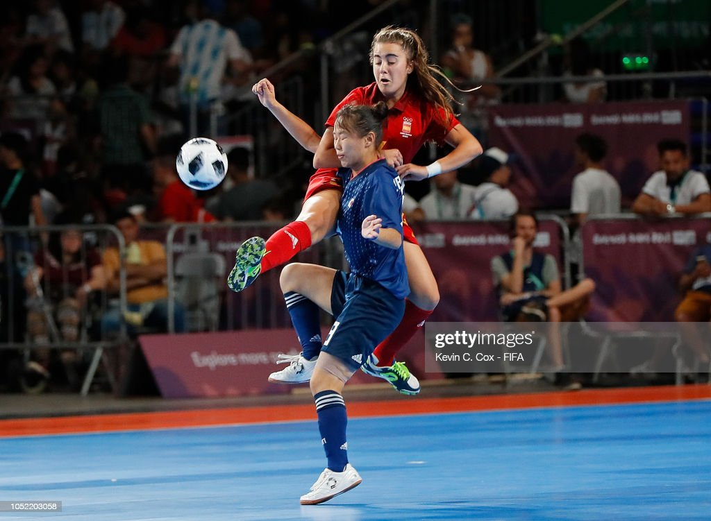 Spain v Japan: Women's Futsal Semi Final Buenos Aires Youth Olympics 2018 : News Photo