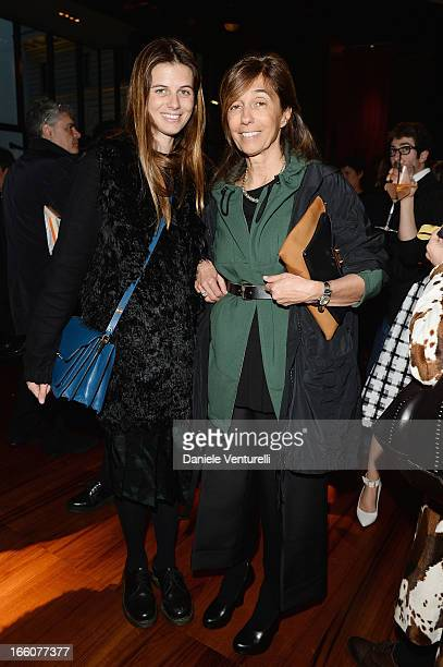 """Carolina and Consuelo Castiglioni attend the """"T: The New York Times Style Magazine"""" garden party at the Bulgari Hotel on April 8, 2013 in Milan,..."""