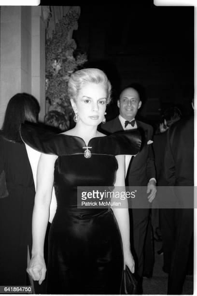 Carolina and Reinaldo Herrera at the Costume Institute's Met Ball Benefit held at the Metropolitan Museum of Art. December 1983.
