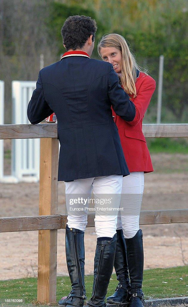 Carolina Aresu attends CSI2 Horse Race at Centro Ecuestre Oliva Nova on October 27, 2012 in Valencia, Spain.