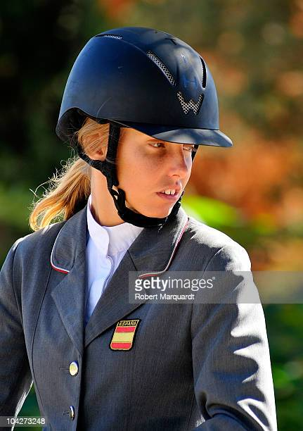 Carolina Aresu of Spain attends the 99th CSIO Barcelona Cup of Nations event at the Real Club de Polo de Barcelona on September 19 2010 in Barcelona...