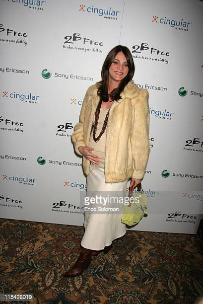 Carolina Bacardi during Sony Ericsson and Cingular Wireless Present The 2 B Free Fall 2006 Collection Red Carpet at Regent Beverly Wilshire in...