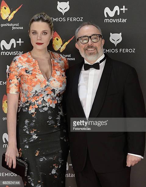 Carolina Bang and Alex de la Iglesia attend the 2016 Feroz Awards ceremony at the Palacete de los Duques de Pastrana on January 23 2017 in Madrid...