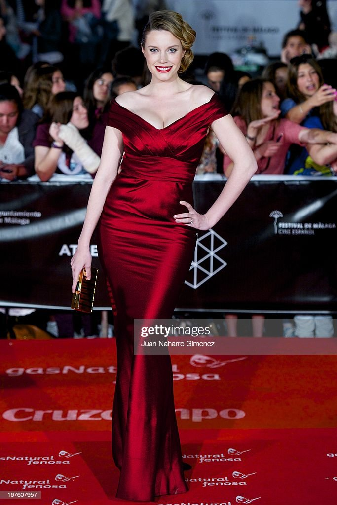 Carolina Bang attends 'Gala Premio Retrospectiva-Malaga Hoy' during 16 Malaga Film Festival at Teatro Cervantes on April 26, 2013 in Malaga, Spain.