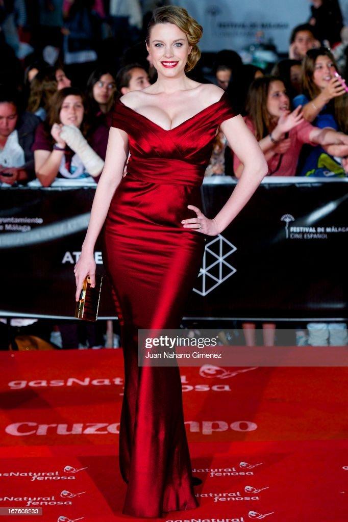 Carolina Bang attends 'Gala Premio Retrospectiva-Malaga Hoy' during 16 Malaga Film Festival at Teatro Cervantes on April 26, 2013 in Malaga, Spain.