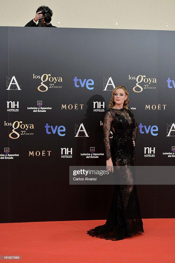 Carolina Bang attends Goya Cinema Awards 2013 at Centro de Congresos Principe Felipe on February 17, 2013 in Madrid, Spain.