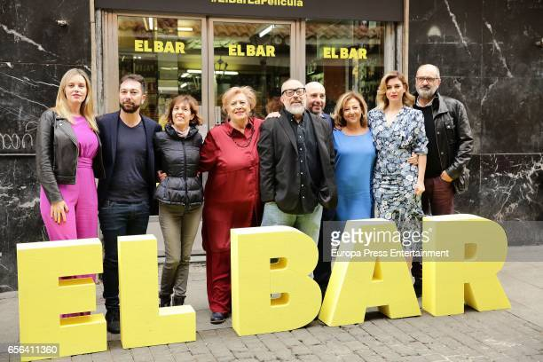 Carolina Bang guest guest Terele Pavez Alex de la Iglesia Jaime Ordonez Carmen Machi Blanca Suarez and Joaquin Climent attend 'El Bar' photocall at...