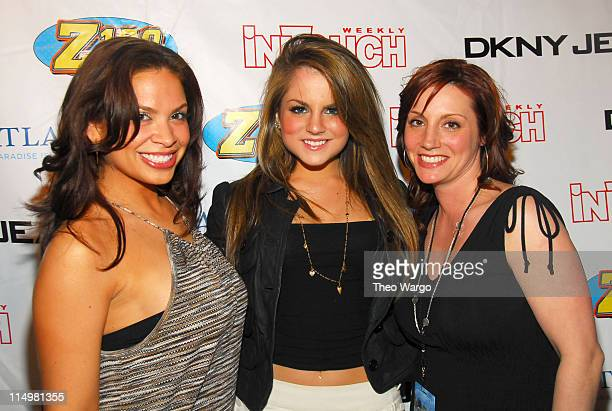 Carolina Bermudez JoJo and Danielle Monaro at the Z100/DKNY JEANS Party Plane to the Bahamas Event