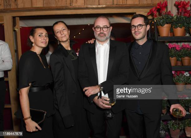 Carolina Brodasca Caroline Pasquier Lucien Pages and Bastien Daguzan attend the gala dinner in honour of Edward Enninful winner of the Global VOICES...
