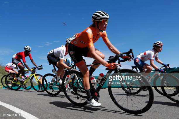 Carolina Campbell Carolina of Trinidad And Tobago / Demi Vollering of The Netherlands / Alice Barnes of The United Kingdom / during the 93rd UCI Road...