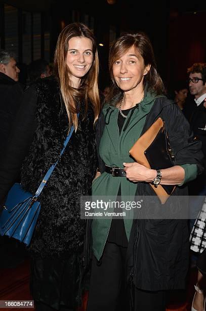 """Carolina Castiglioni and Consuelo Castiglioni attend the """"T: The New York Times Style Magazine"""" garden party at the Bulgari Hotel on April 8, 2013 in..."""